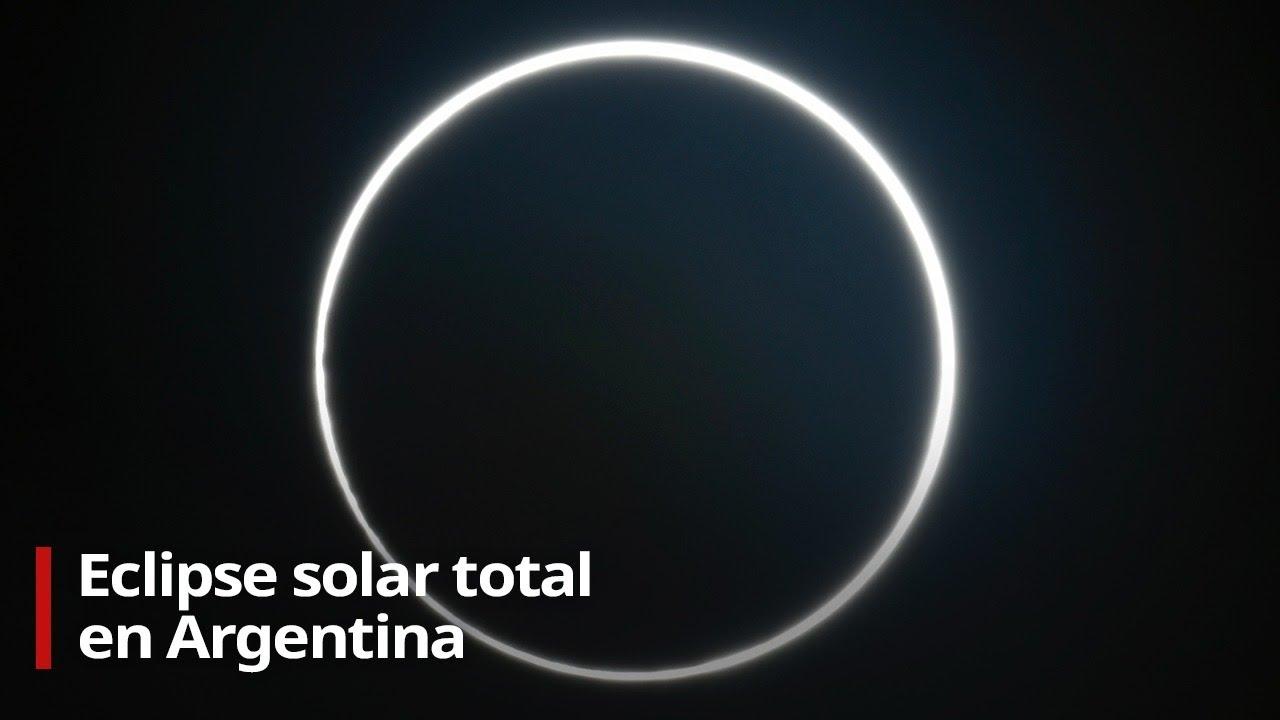 Eclipse total de Sol en Sudamérica 2020 (en vivo desde Argentina)