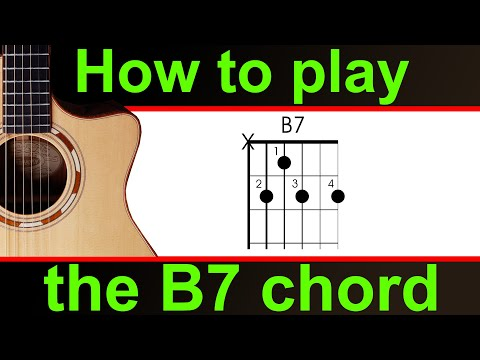 How to play the B7 guitar chord (B dominant 7). Easy guitar lesson