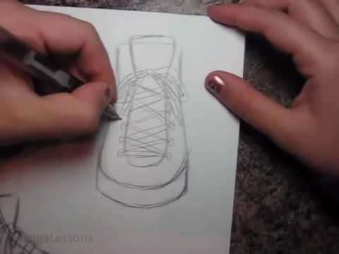 How To Draw Manga Shoes Sneakers - YouTube