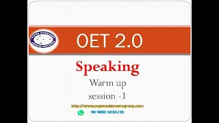 OET 2.0 Speaking with  Dr. Dolly OET 2.0 speaking | Super Achievers Abroad Education