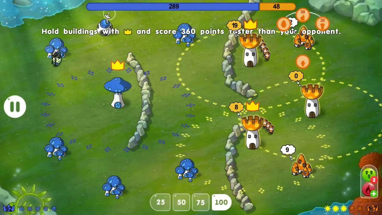 Hasil gambar untuk game Mushroom Wars : Space
