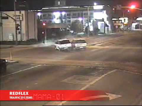 Redflex Traffic Systems - Red light runner hits building