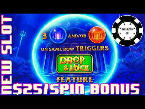 ?Drop & Lock Deep Sea Magic ?HIGH LIMIT $25 BONUS ROUND LOCK IT LINK SLOT MACHINE CASINO ? - 동영상