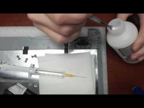 Laptop hinge repair/brass inserts reattachment + Acer Z5WAH disassembly