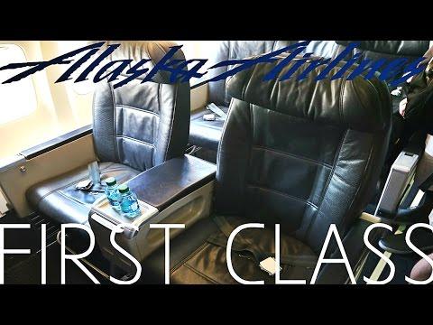 Alaska Airlines FIRST CLASS Boeing 737