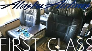 Alaska Airlines FIRST CLASS Boeing 737