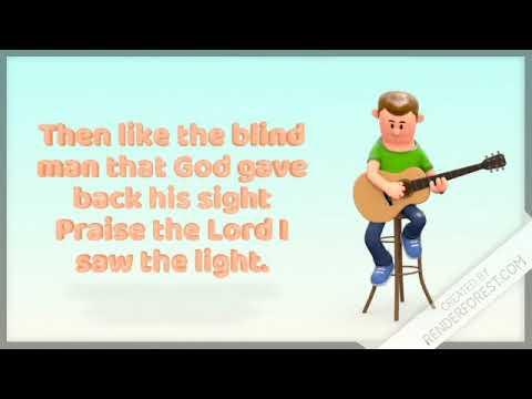 "Hank Williams ""I Saw The Light"" Christian Hymn Animated Video"