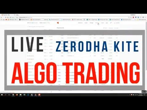 How to do, LIVE Algo Trading using Zerodha Kite.
