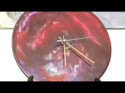 DIY Resin art / how to zhosh up a plain boring, store bought wooden clock