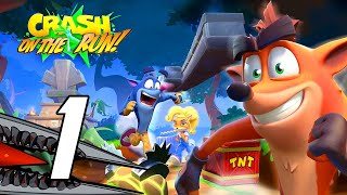 Crash Bandicoot: On the Run - Gameplay Walkthrough Part 1 (No Commentary, iOS/Android)
