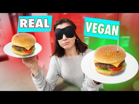 Real VS Vegan: Blindfolded Taste Test!