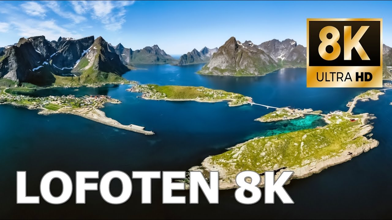 Lofoten islands, Norway 8K Ultra HD - Mountains and Arctic Fjords