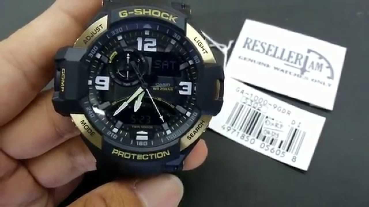 fe87d390fbea CASIO G-SHOCK GRAVITYMASTER GA-1000-9G - YouTube