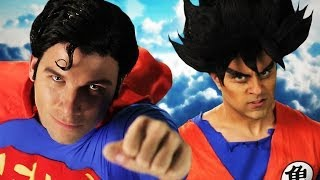 Repeat youtube video Goku vs Superman.  Epic Rap Battles of History Season 3.