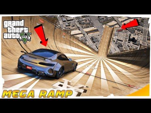gta-5-:-my-gold-mercedes-vs-mega-ramp