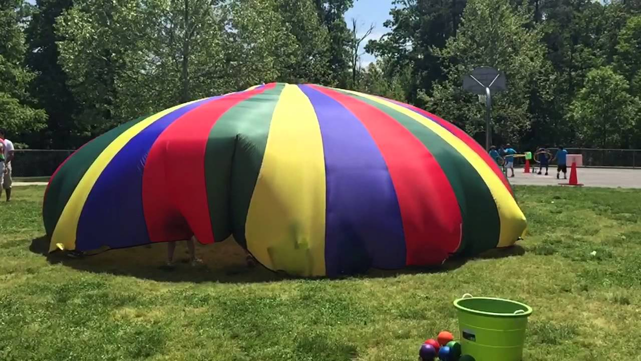 Slo-mo Parachute tent & Slo-mo Parachute tent - YouTube
