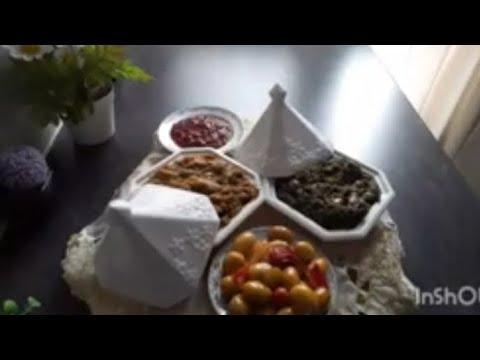 سلطة-الذنجال-و-السبانخ-recette-d'épinards-à-la-poêle,-et-d'aubergines-grillées