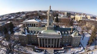 Penn State University Park winter tour from above thumbnail