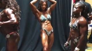 Yeon Woo Jhi backstage at the  2016 NY Pro show