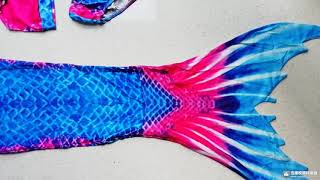 2-12Y Girls Swimsuit baby girl Colorful Mermaid Bikini kids swimming swimwear Mermaid tail