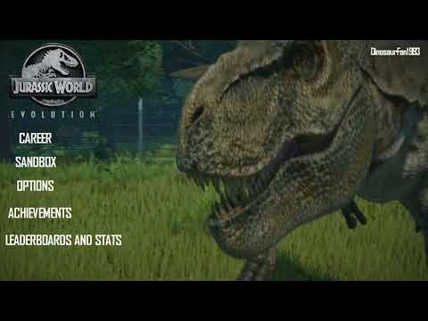 Jurassic World: Evolution (2018) Video Game Title Screen and UI (Fan-Made)