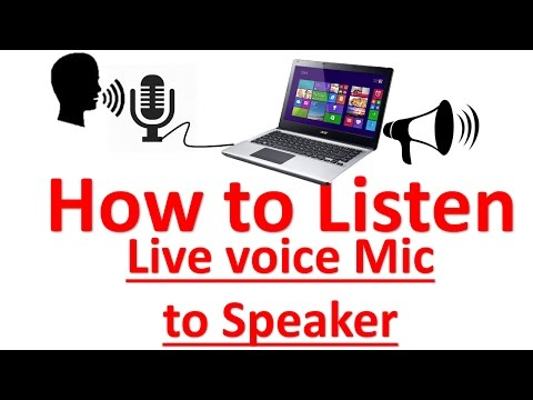 How To Listen Live Voice In Computer/laptop Speaker, Using Mic.