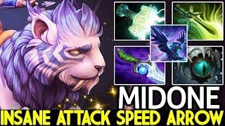 MIDONE [Mirana] Insane Attack Speed Arrows Right Click Mid 7.22 Dota 2