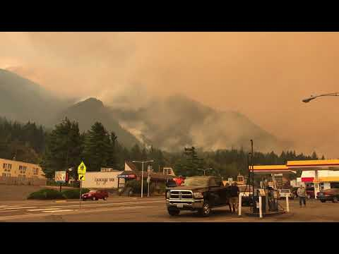 Cascade locks Oregon forest fire 2017