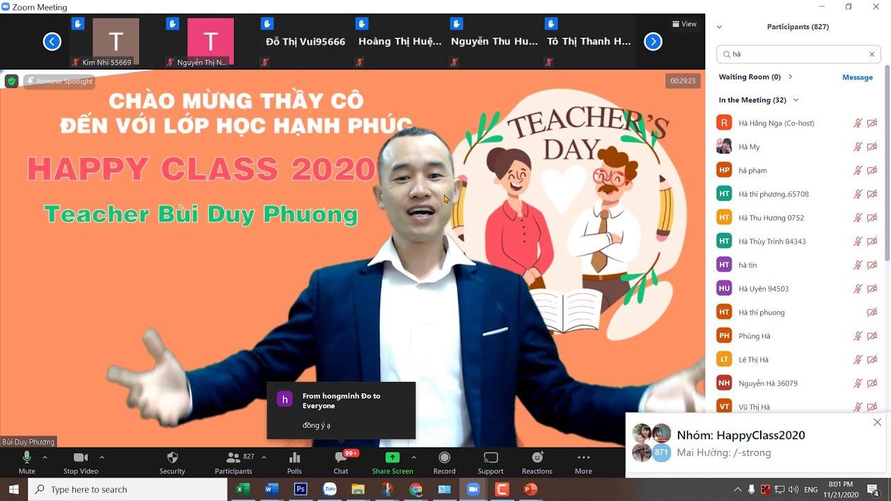 Khai mạc lớp thiết kế bài giảng elearning /Lớp học hạnh phúc Happy Class 2020