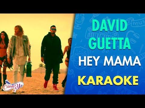 David Guetta - Hey Mama (Karaoke) | CantoYo