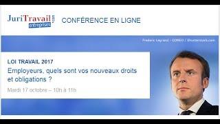 Conférence en ligne Loi Travail 2017