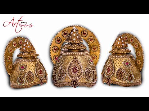 Part 2 | DIY How to make Mukut | God ( crown  / tahia in odia ) | kundan mukut |Art with Creativity