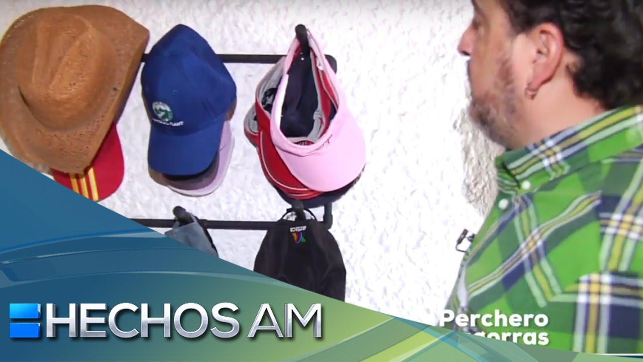 C mo hacer un perchero para gorras hechos a mano youtube for Como hacer un perchero de pared