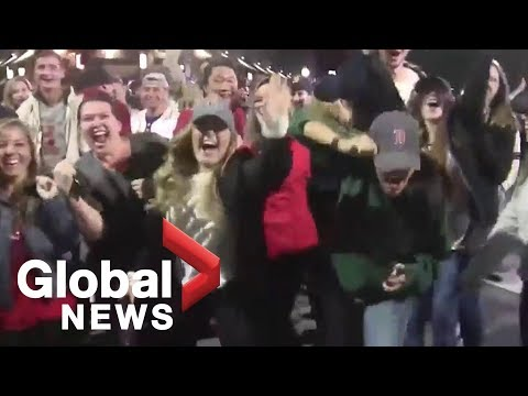 Boston Red Sox fans take to the streets to celebrate World Series win