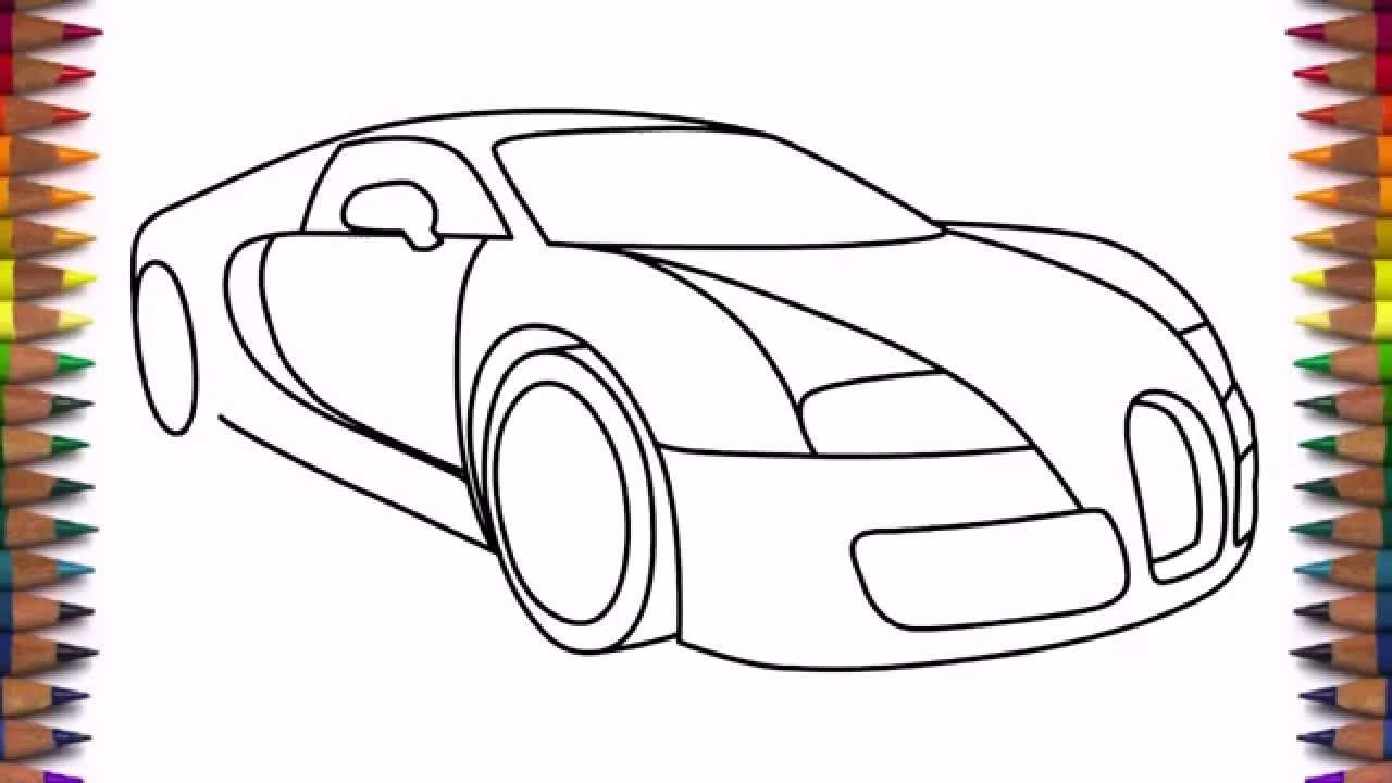 How To Draw A Car Bugatti Veyron 2011 Drawing For Beginners And Kids