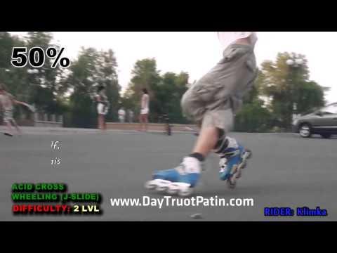 Slide Trick - Kỹ thuật trượt patin phanh Acid Cross Wheeling - www DayTruotPatin com