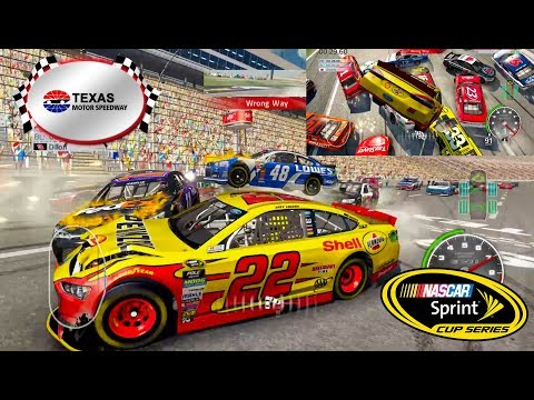 Nascar 15 The Game: Texas Motor Speedway Crash Compilation in 21st Century