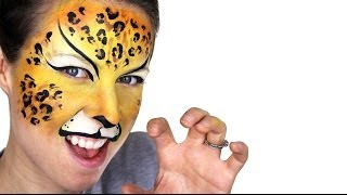 Leopard Face Painting Tutorial