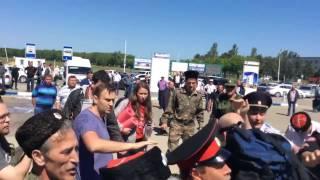 навального избили казаки