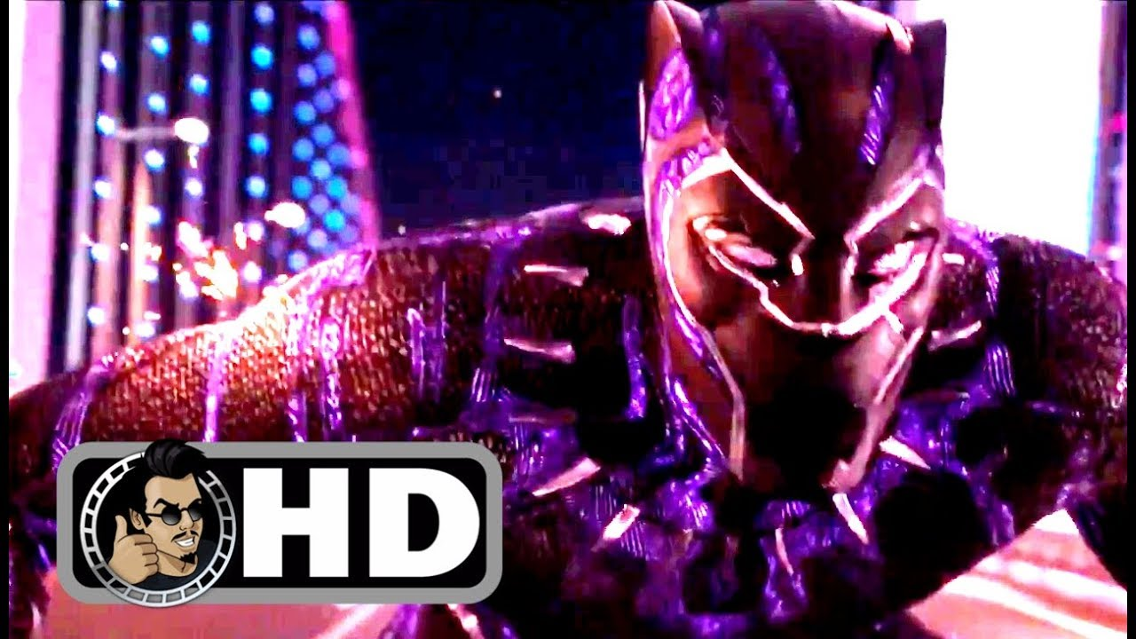 "BLACK PANTHER Movie Clip – ""Car Chase"" + Trailer (2018) Marvel Superhero Movie HD"