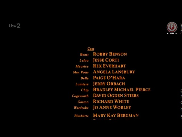 Beauty And The Beast End Credits Tv Version Youtube