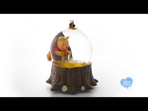 "Disney Winnie The Pooh Musical Snow Globe ""For The Love Of Hunny"", Resin/Glass"