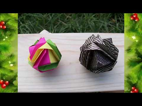 How To Make Easy Christmas Tree Balls Out Of Paper. DIY Tutorial Kusudama Japanese Cabbage thumbnail