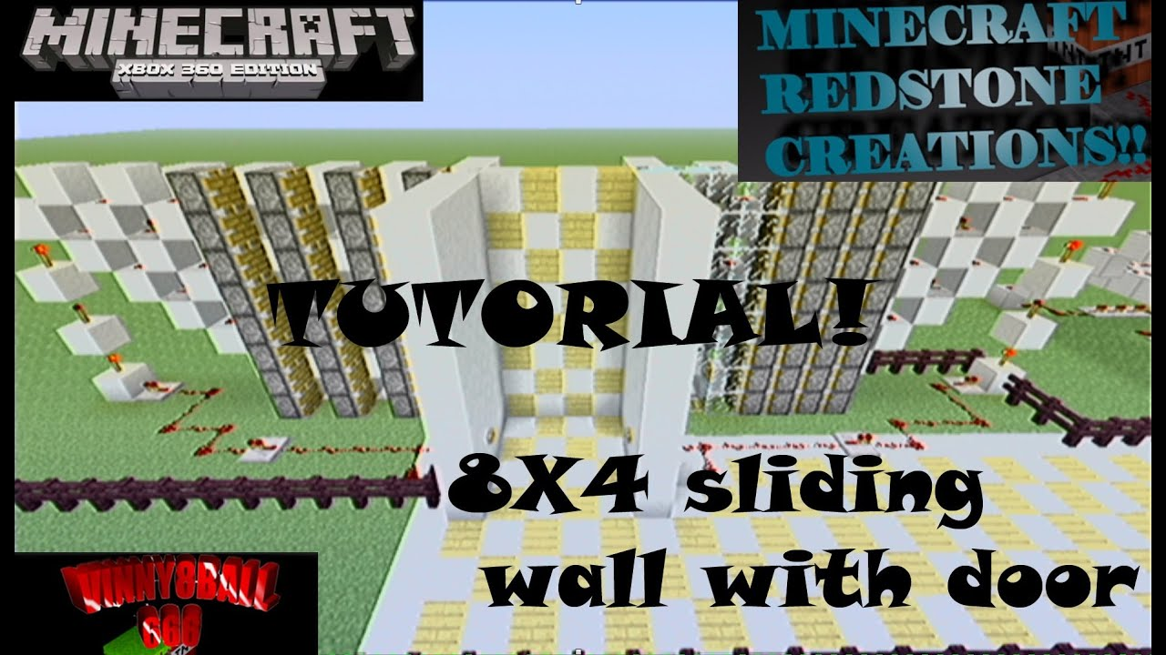 Tutorial 4x8x2 moving wall with door minecraft redstone tutorial 4x8x2 moving wall with door minecraft redstone creations baditri Images