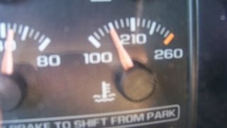 96-98 Chevy pickup temperature gauge reads low - part 1 - testing the gauge