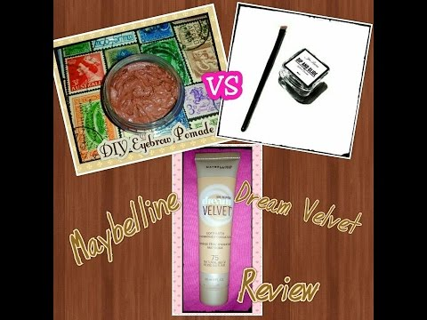 Dip and Glide Pomade vs DIY eyebrow pomade and Review of Maybelline Dream Velvet