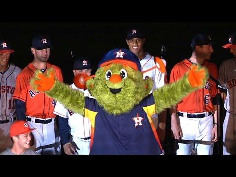 Houston Astros unveil their new mascot Orbit