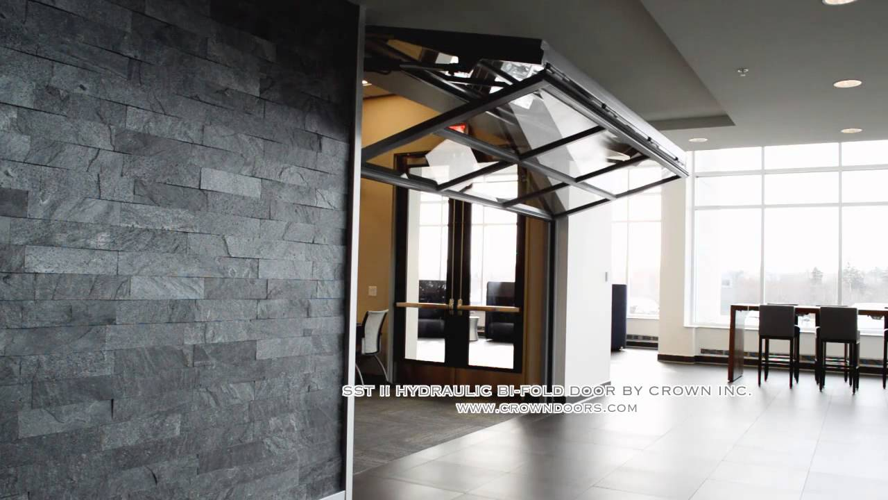 Sst Ii Bi Folding Door By Crown Doors Llc Youtube