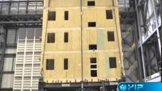 Wood (osb) Sandwich Panel Earthquake Test