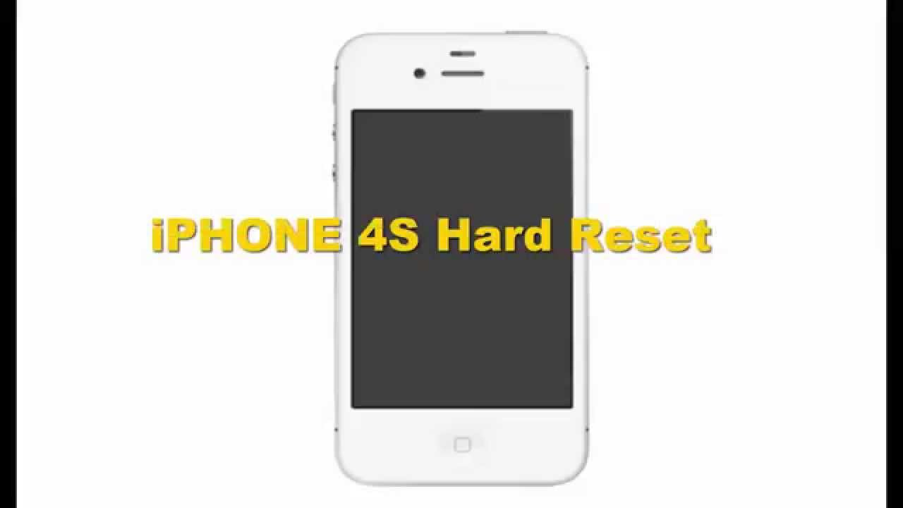 how to hard reset iphone 4 iphone 4s reset 18868